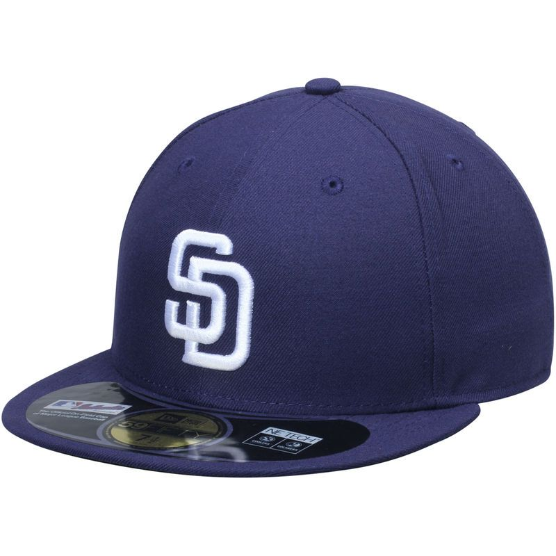 27d67cce4d3 San Diego Padres New Era AC On-Field 59FIFTY Home Performance Fitted Hat -  Navy