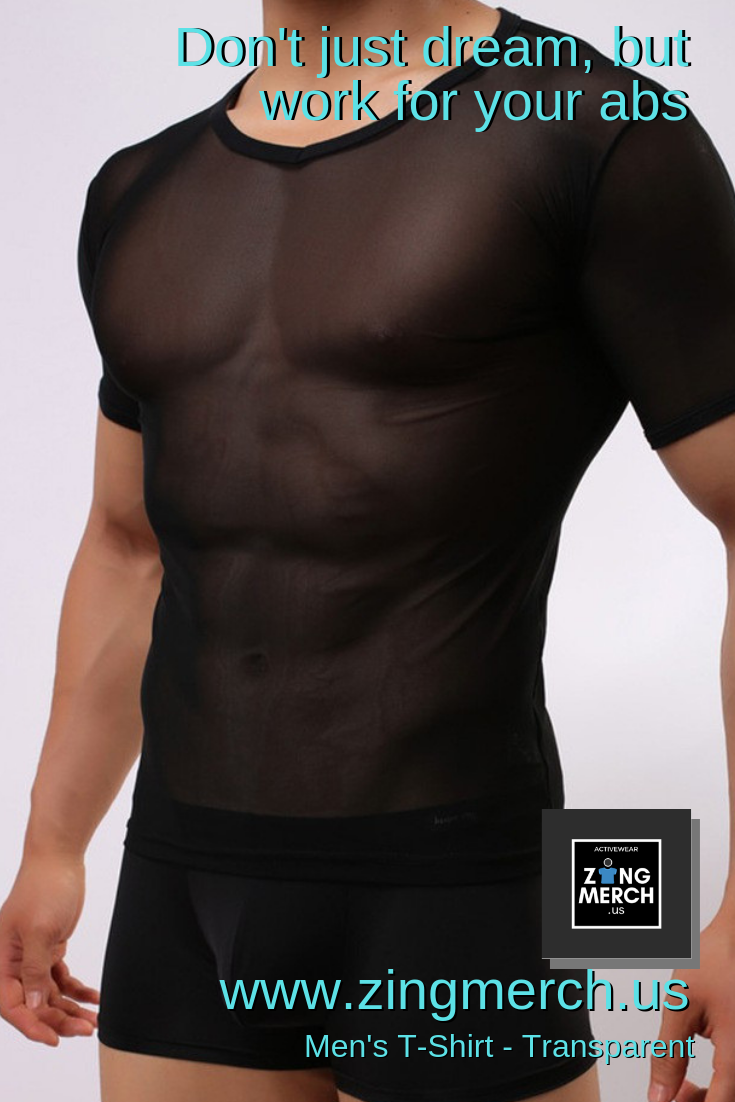 Men S T Shirt Transparent Active Lifestyle Inexpensive Workout