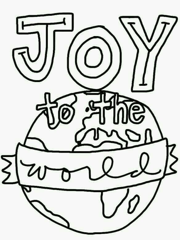 Christmas Coloring Pages Joy Concept