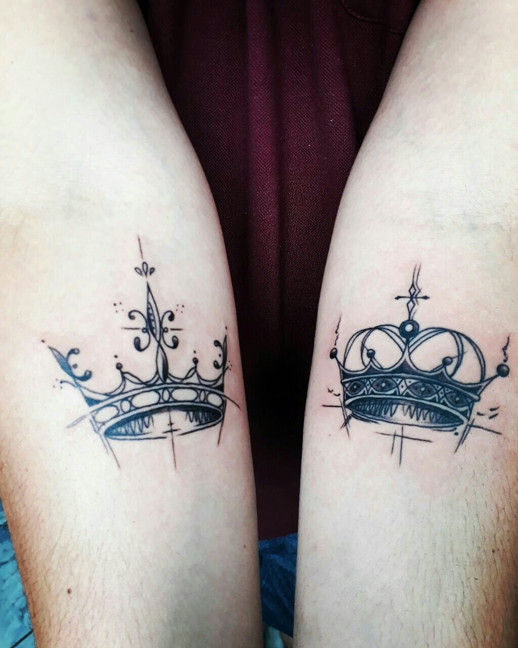 King Queen Matching Tattoos King Tattoos Inspirational Tattoos