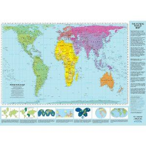 Peters projection world map laminated all countries of the peters projection world map laminated all countries of the world are represented at true size and proportion gumiabroncs Gallery