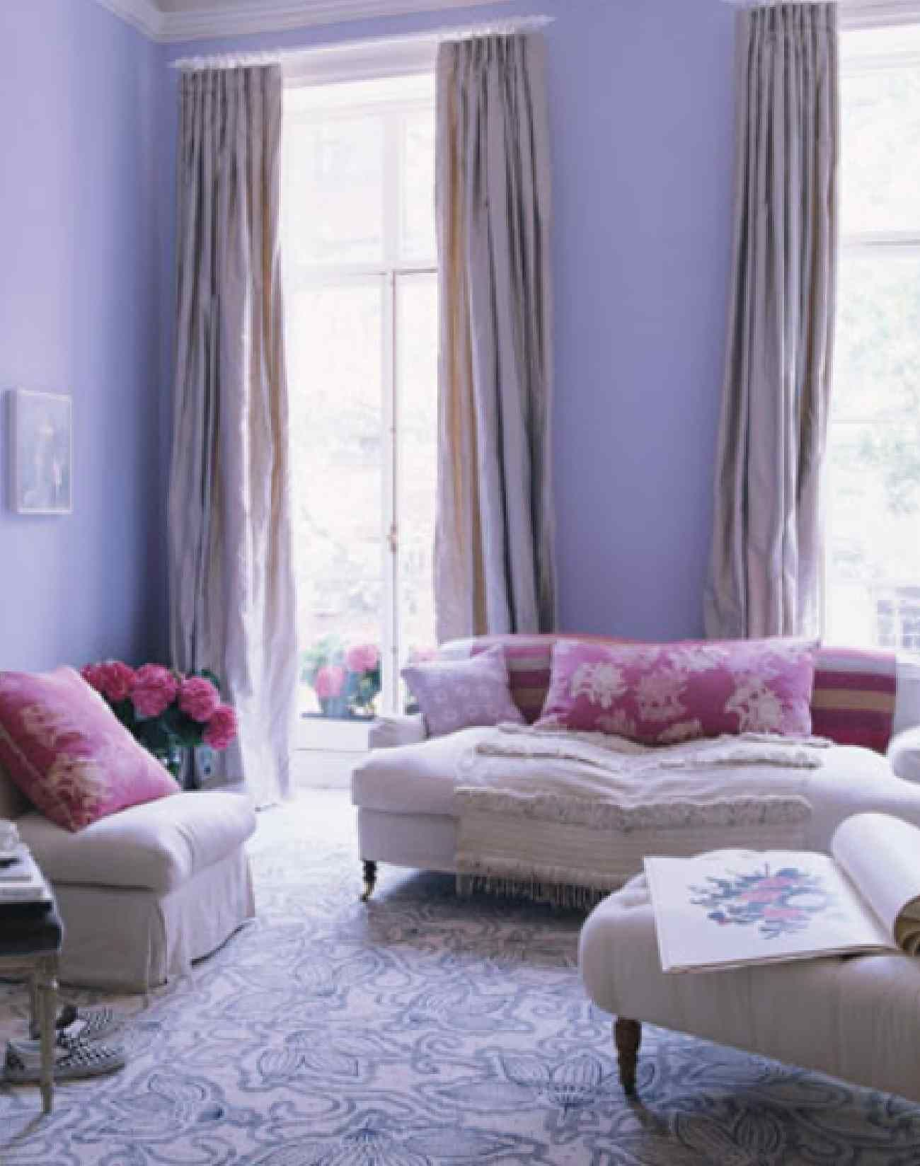 Lavender Paint Ideas For Your Home One Kings Lane: Purple Living Room Interior Design Ideas: Pretty Pastels