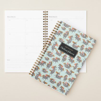 Unicorn Pattern  Custom  Blue Planner  Pattern Sample Design