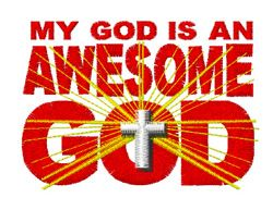 Awesome God embroidery design from embroiderydesigns.com
