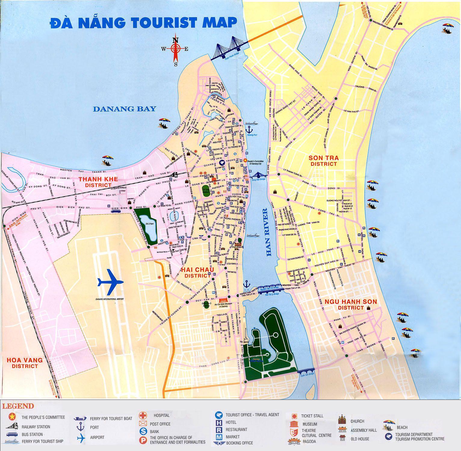 Da Nang Tourism Map | Lifestyle | Pinterest | Da nang ...