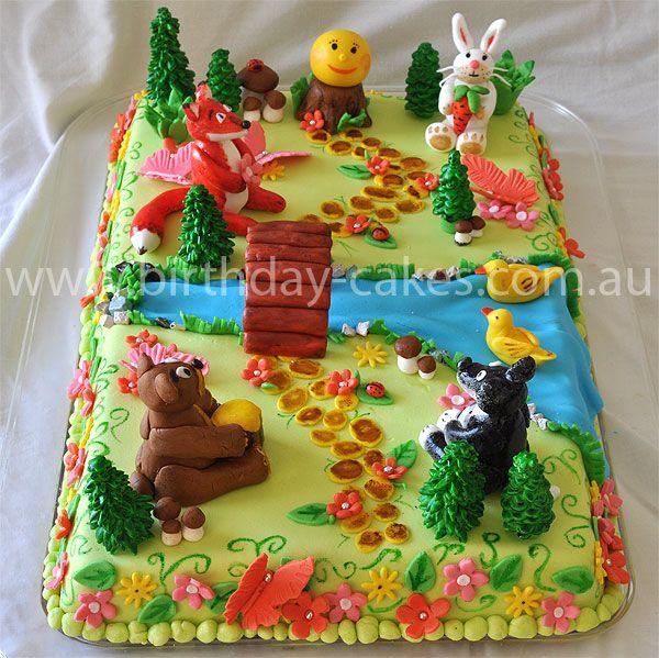 Forest Animals Birthday Cake