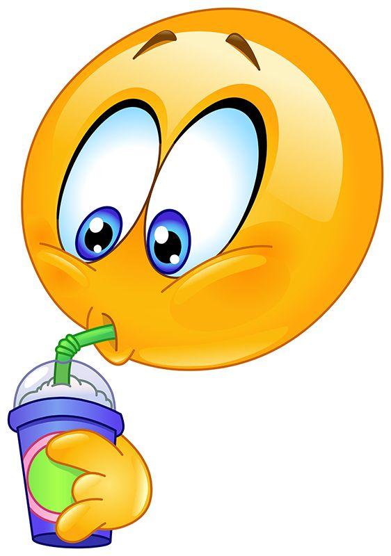 Slurp through a Straw | Smileys | Happy smiley face, Clipart