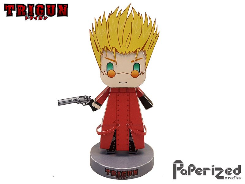 paperized crafts trigun vash the stede papercraft