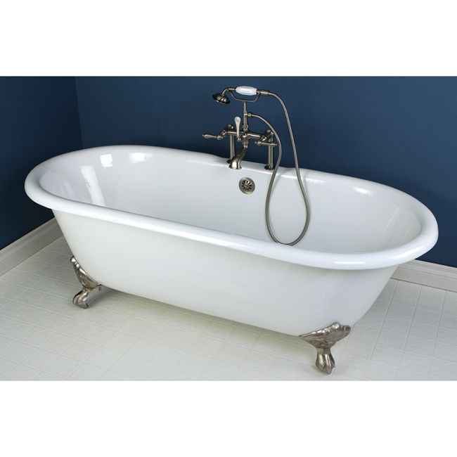 High Quality Princeton Brass Series 66 X 30 Inch Double Ended Cast Iron Clawfoot Tub  Value Packs