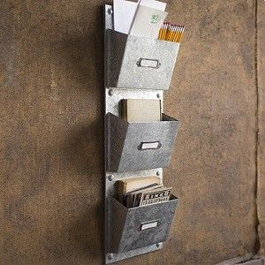 Metal Wall File galvanized wall pocket organizer | metal wall file organizer
