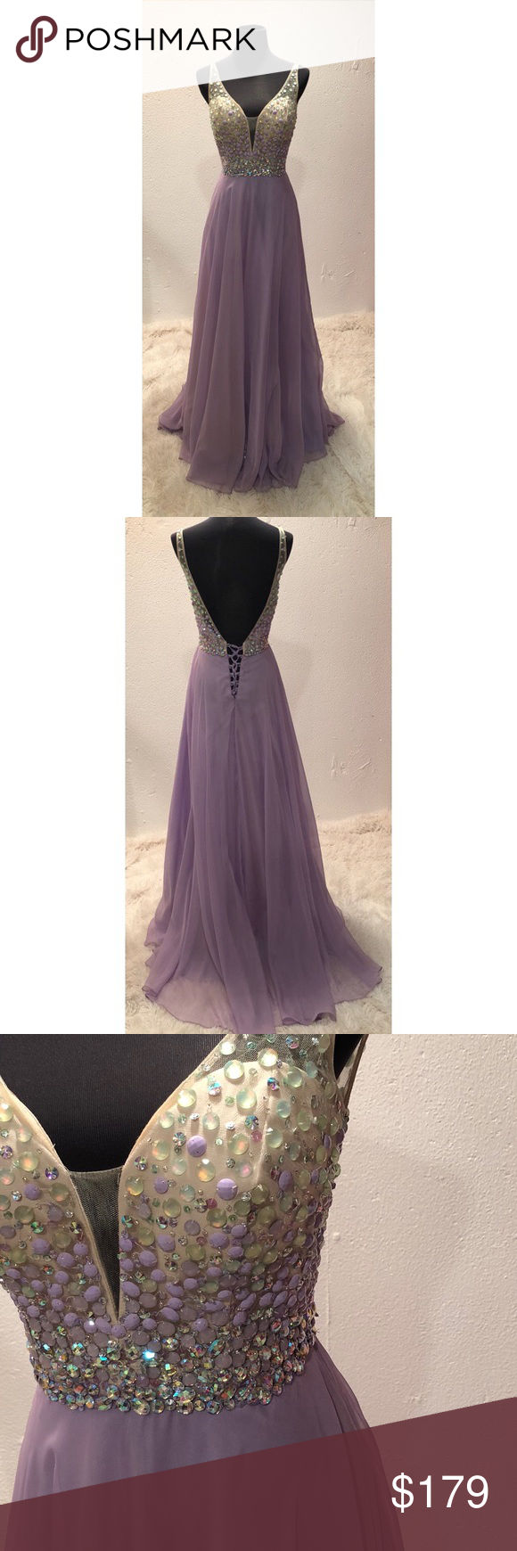 🔥hot deal🔥 lilac evening gown with beaded bodice | Pinterest