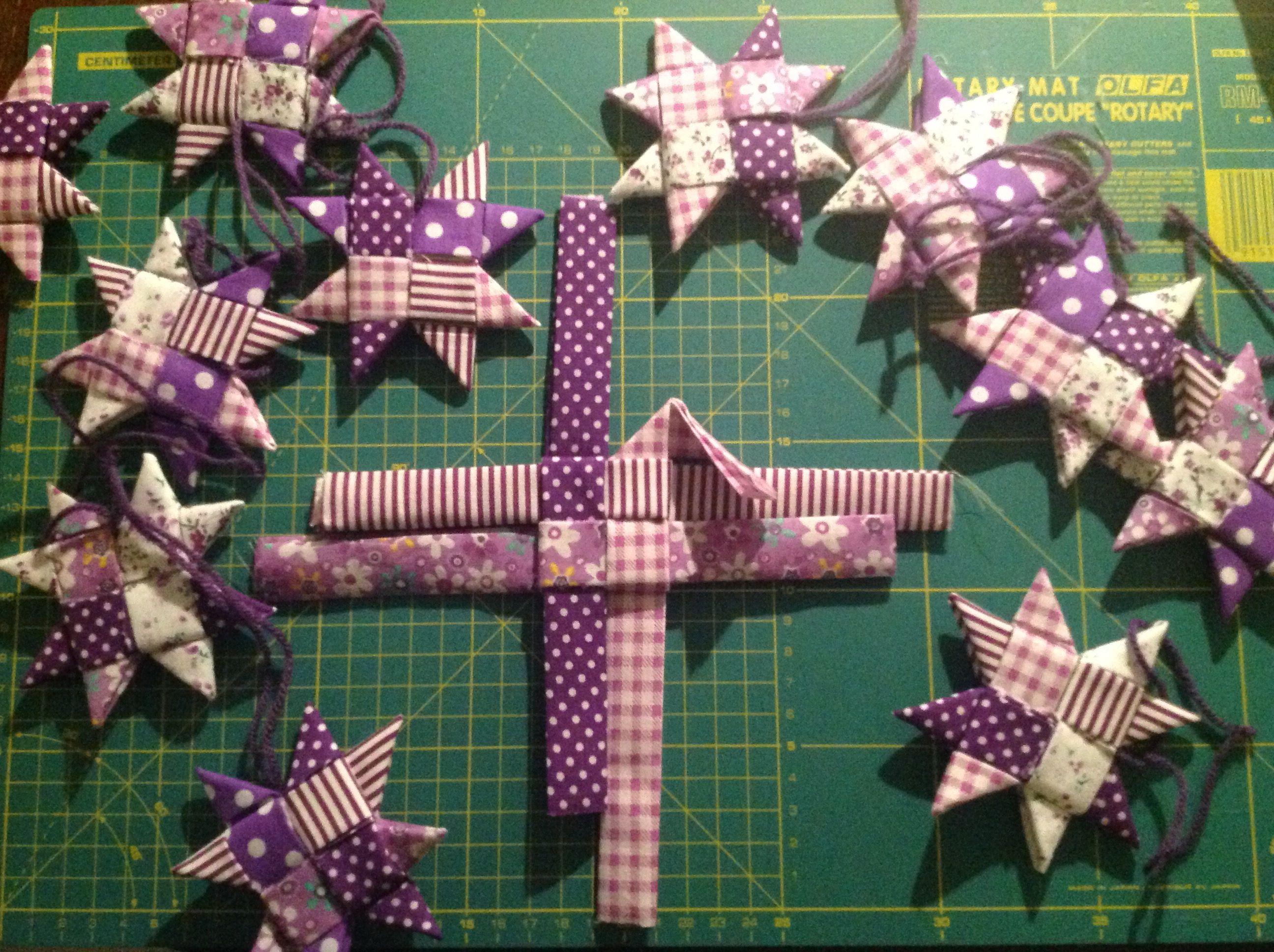 Scandinavian Fabric Stars Scandinavian Fabric Fabric Stars Fabric Christmas Ornaments
