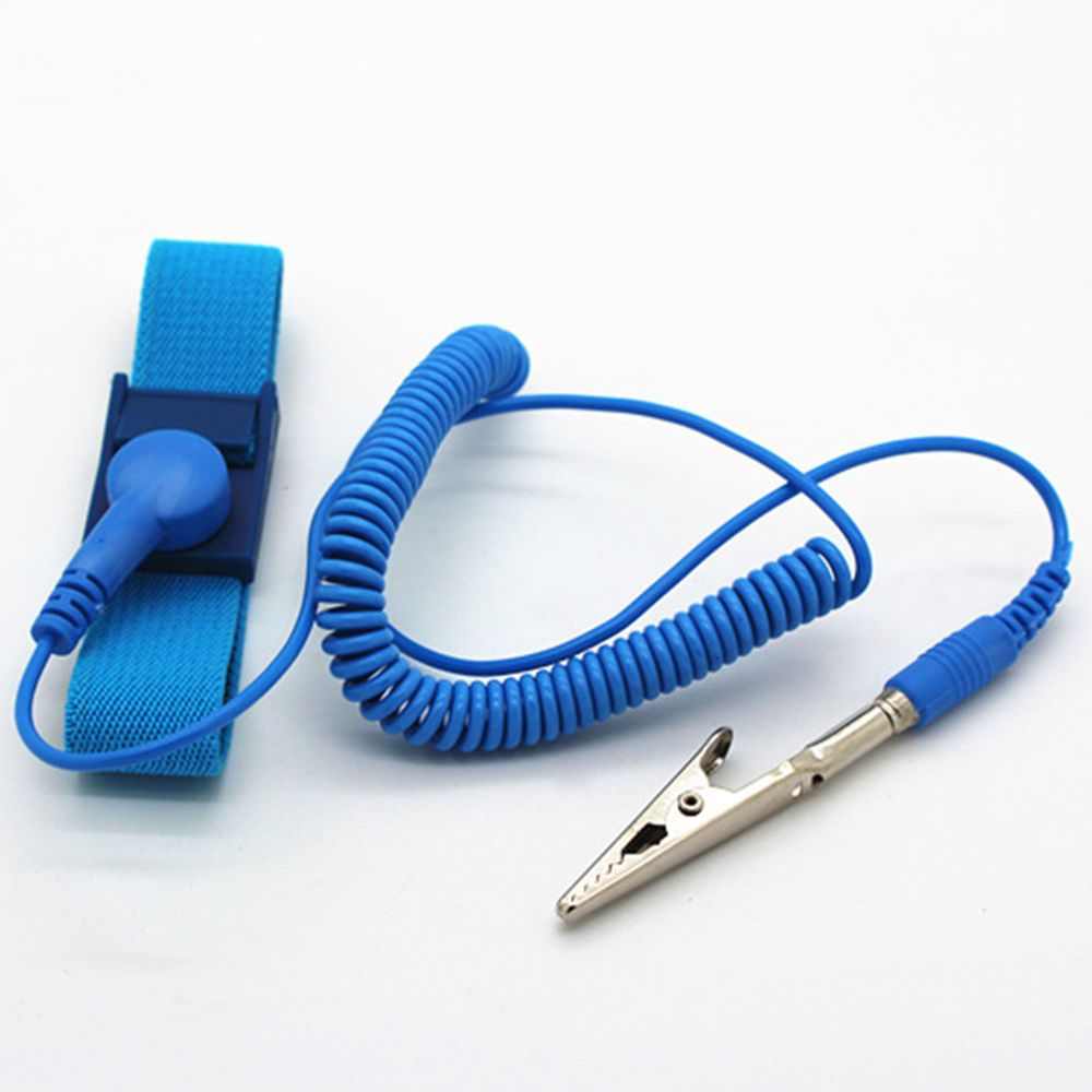 18m blue anti static electricity esd grounding wristband
