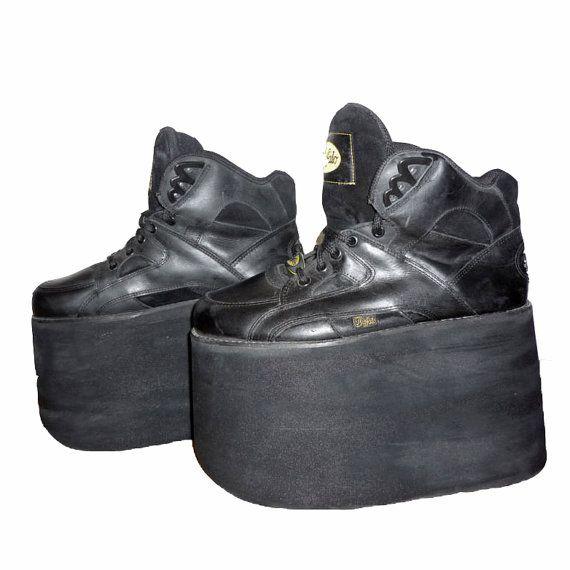 c6130597923 VTG 90s Buffalo Tower Platform shoes for men   black by ROOM104 ...