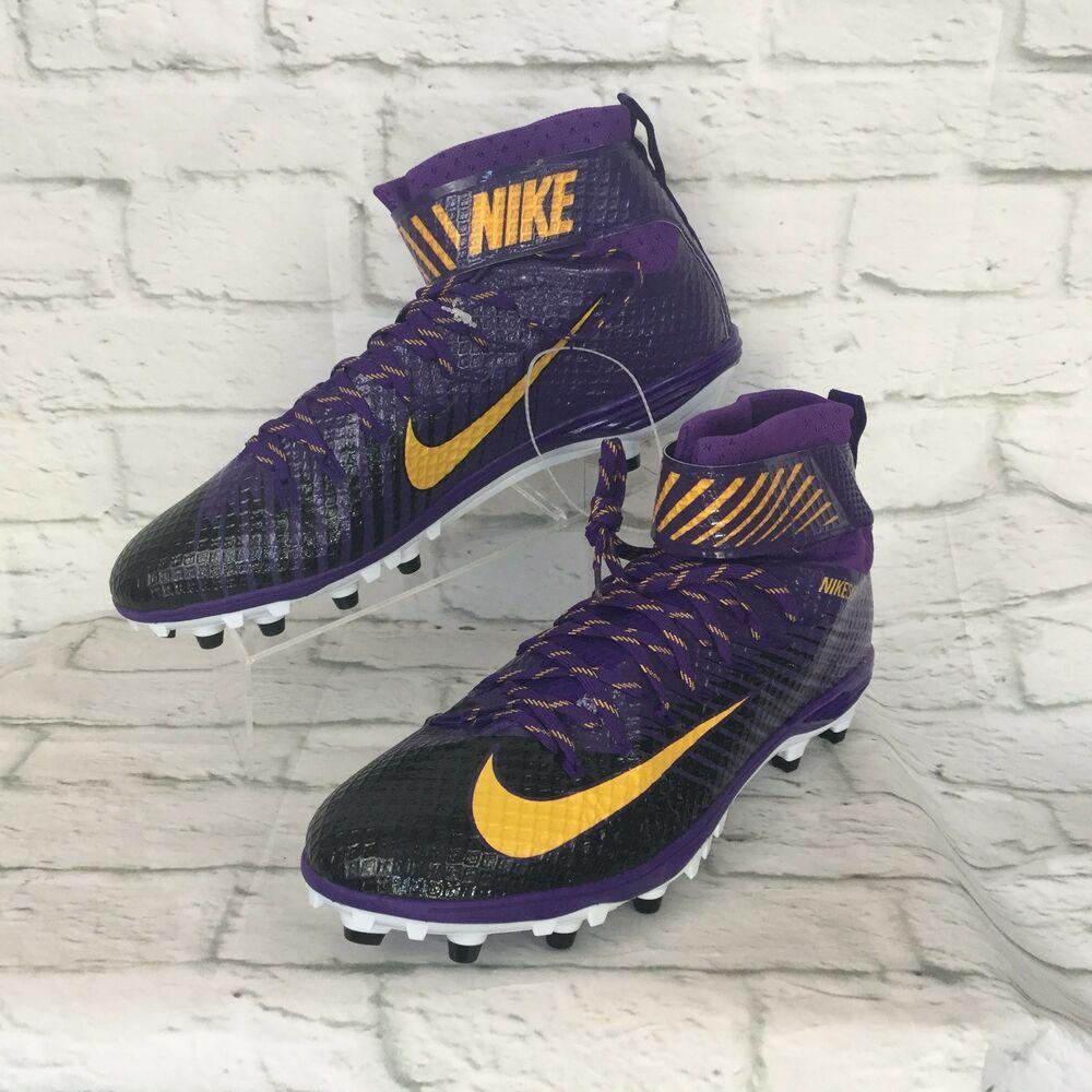 Nike lunarbeast elite football cleats mens 16 purple