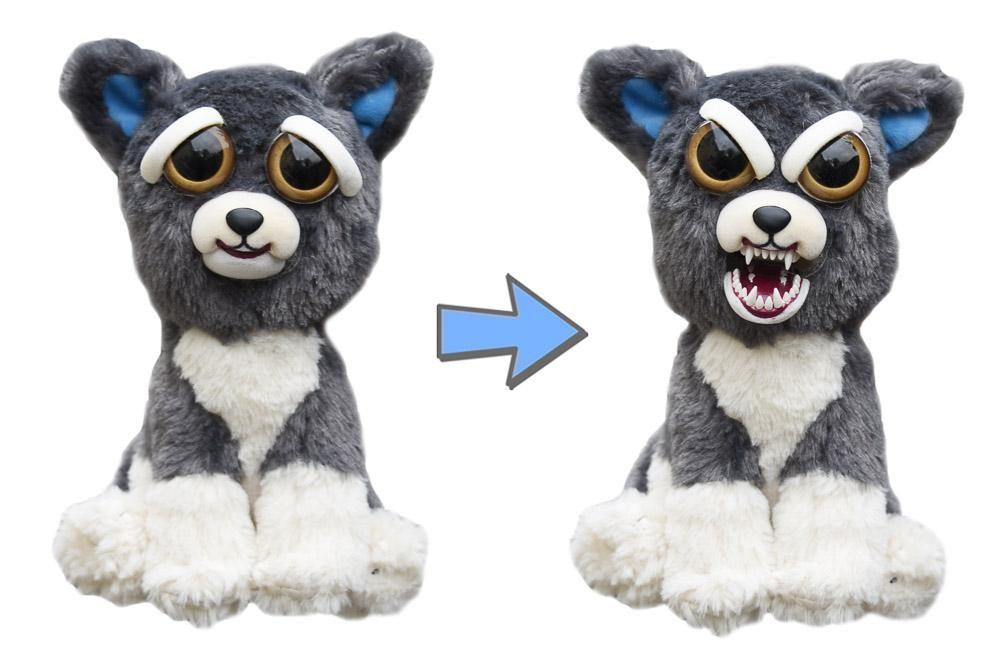 Feisty Pets Loup Pas Chere Petites Peluches Qui Font Peur Plush Dog Pets Grey Dog