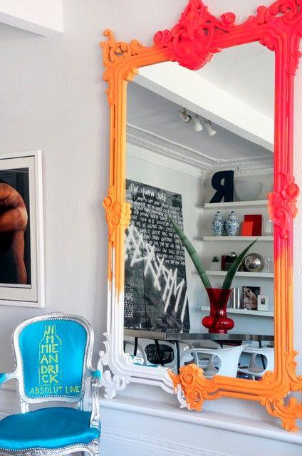 Neon mirror.