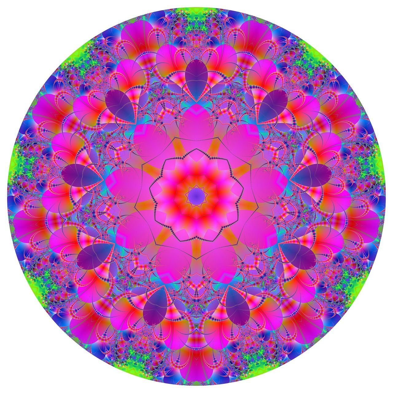 In my book I mention using Mandalas for therapy and relaxation