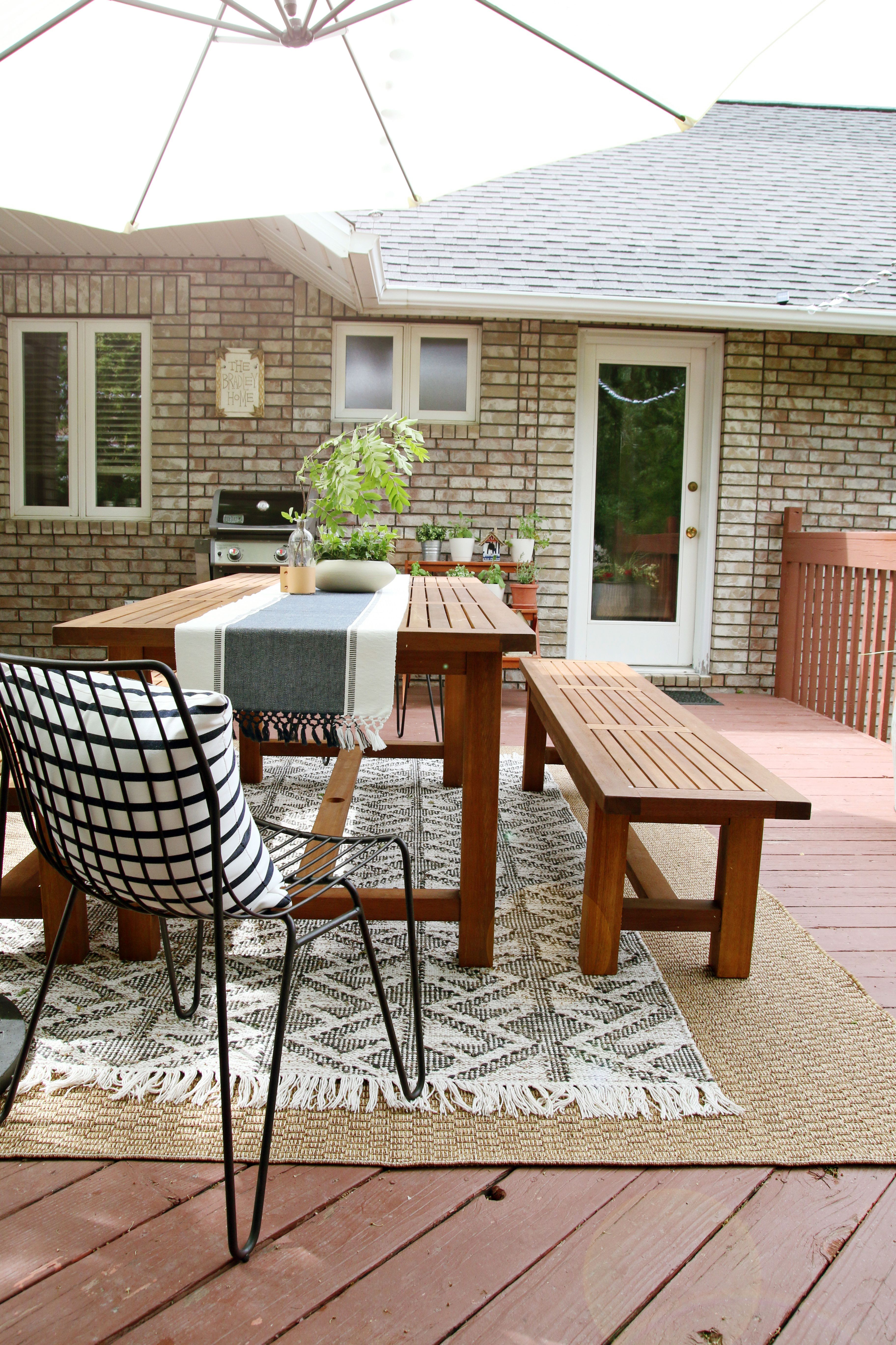 A Layered Outdoor Dining Space On A Budget Outdoor Dining