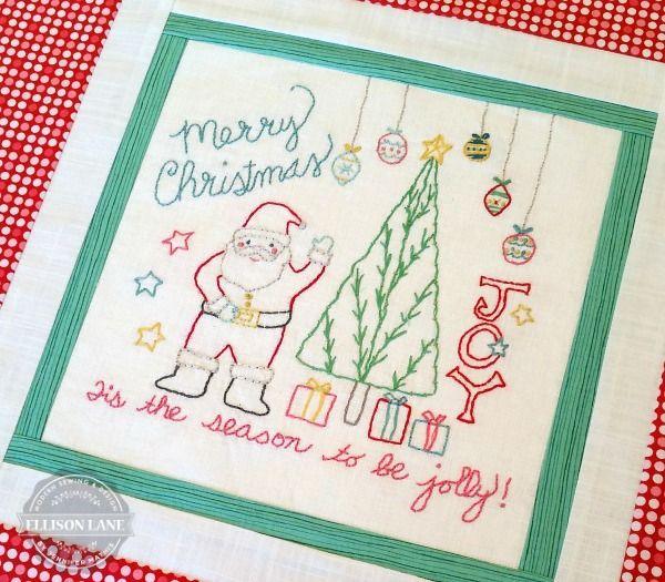 Santa Christmas Embroidery Pattern Free Ellison Lane Quilts