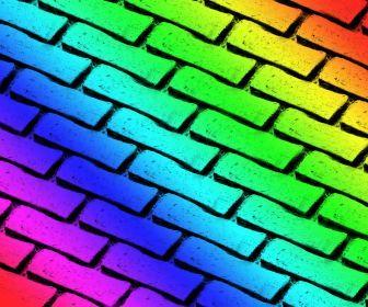 rainbow bricks wallpaper so cool