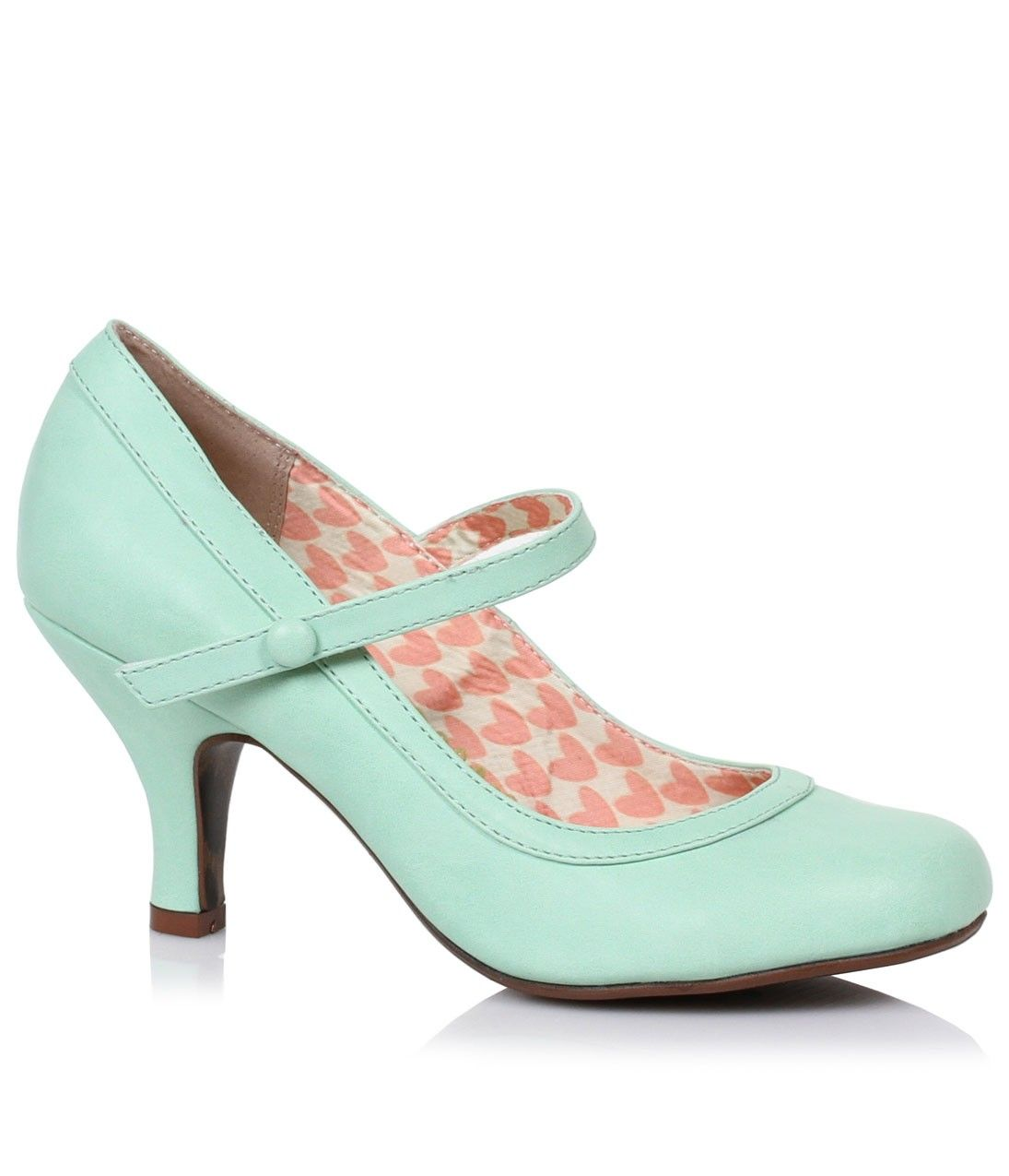 Green shoes · Mint Leatherette Bettie Retro Mary Jane Heels