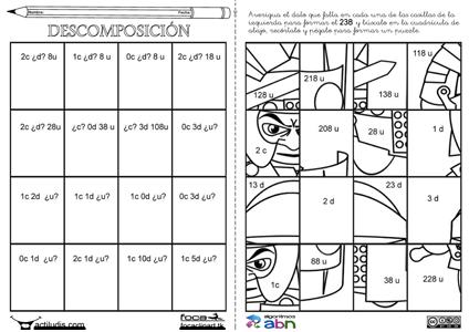 Puzzle De Romano Camiones Soluciones Puzzle De Romano Camiones Decenas Y Centenas Decenas Y Unidades Centenas Decenas Unidades