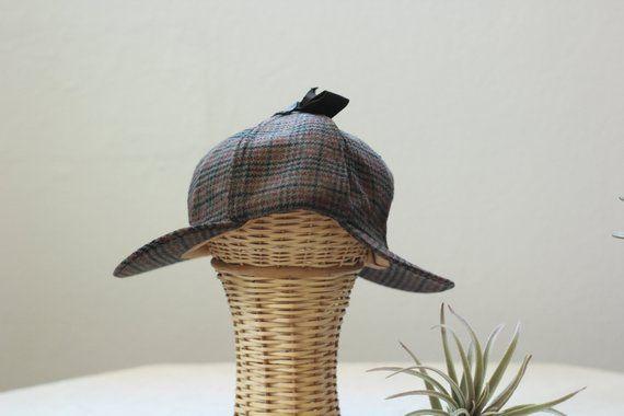 Vintage Deerstalker Detectives Cap | Plaid Hat | Sherlock Holmes | Halloween Costume | Tweed Hat | Dress Up | Pretend Play | Cosplay