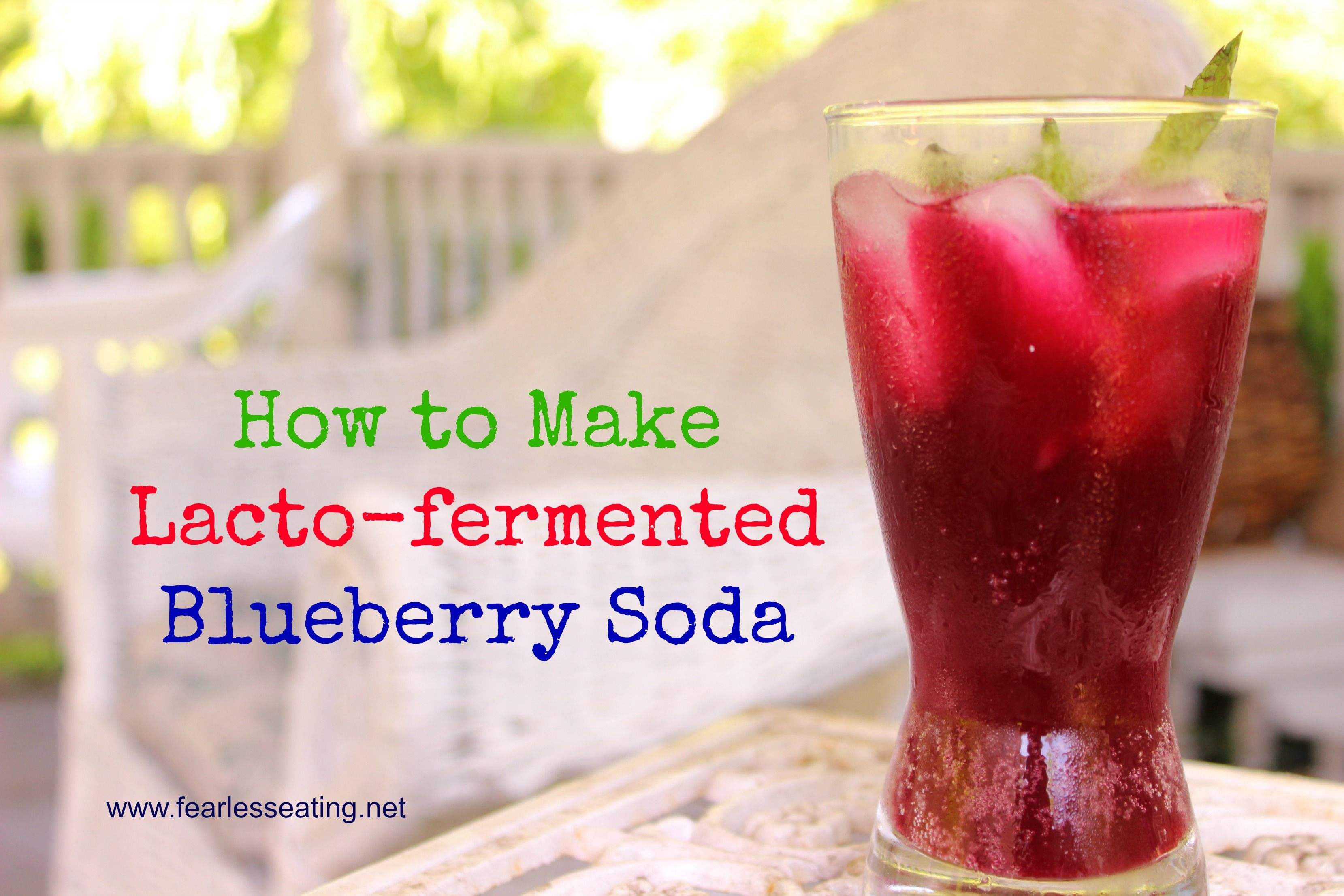 How To Make Lacto Fermented Blueberry Soda Recipe Soda Recipe Blueberry Soda Recipe Fermentation Recipes