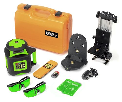Johnson Level 40 6545 Electronic Self Leveling Horizontal Vertical Rotary Laser With Greenbrite Technology Rotary Laser Laser Levels