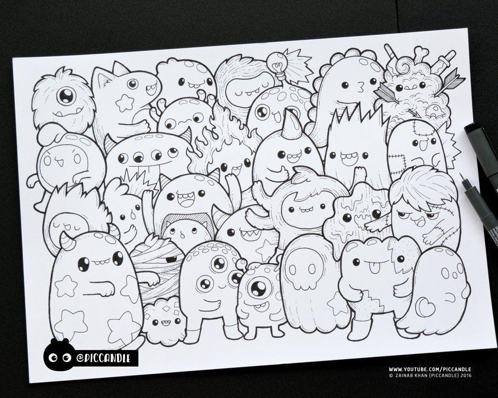 Pic Candle On Twitter Leuke Doodles Krabbel Kunst Tekeningen Kawaii Doodles