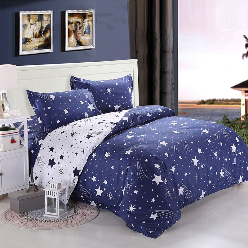 Cheap Sheet Drawing, Buy Quality Bed Fitted Sheet Directly From China Bed  Sheet Queen Size Suppliers: WELCOME TO MY STORE 4/3Pcs Kids Children Bule  Galaxy ...
