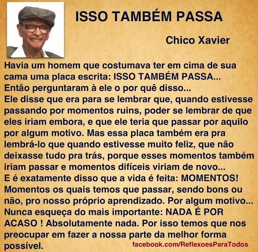 Chico Chavier meu eterno amigo de luz da bondade amor e cumplicidade.