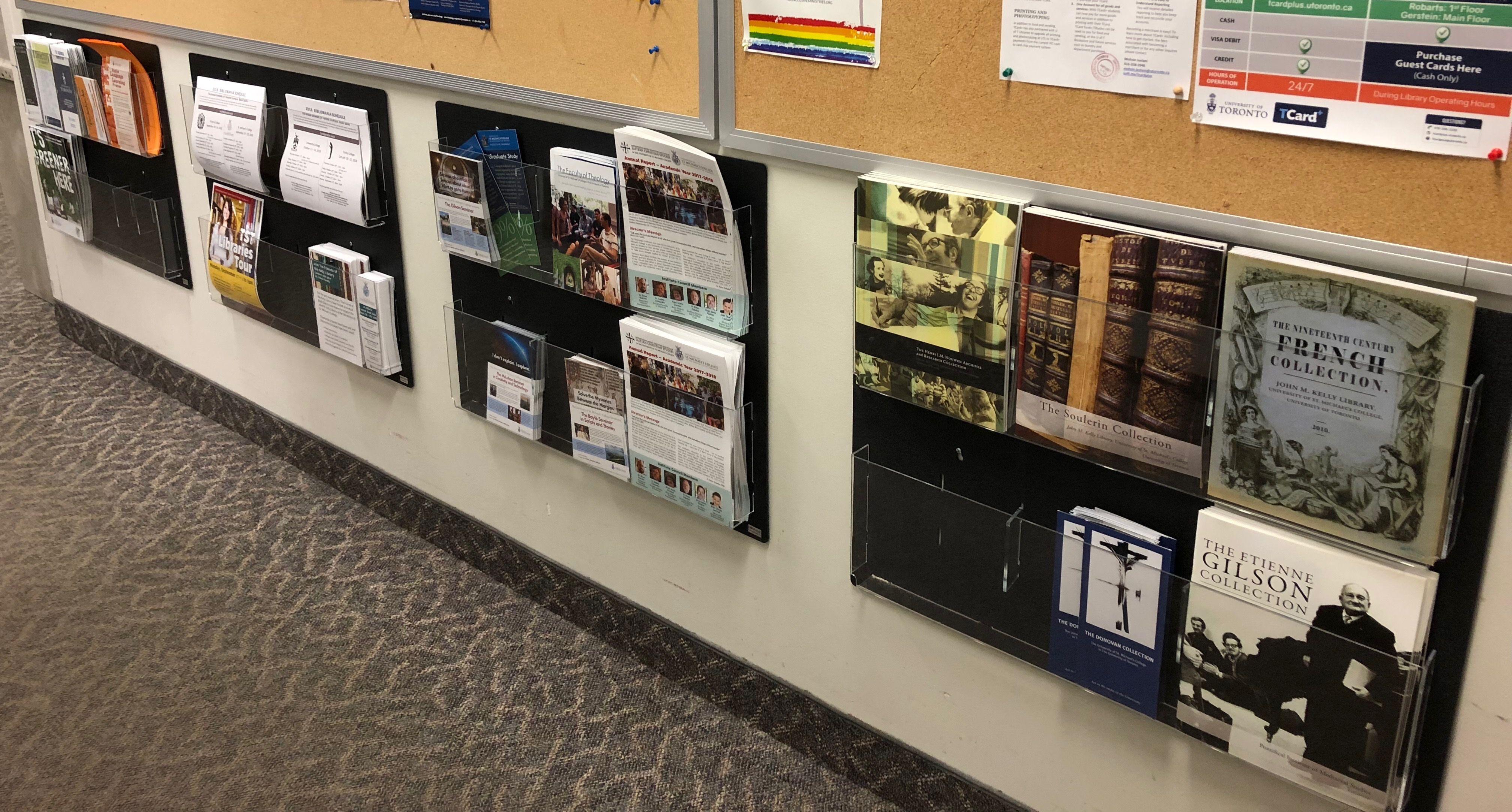 2 Tiered Acrylic Literature Wall Rack 4 8 5 W 6 12 Adjustable Pockets Black Brochure Holders Wall Wall Racks