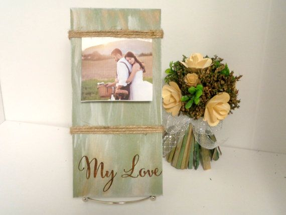 my love rustic picture frame distressed wood picture frame new