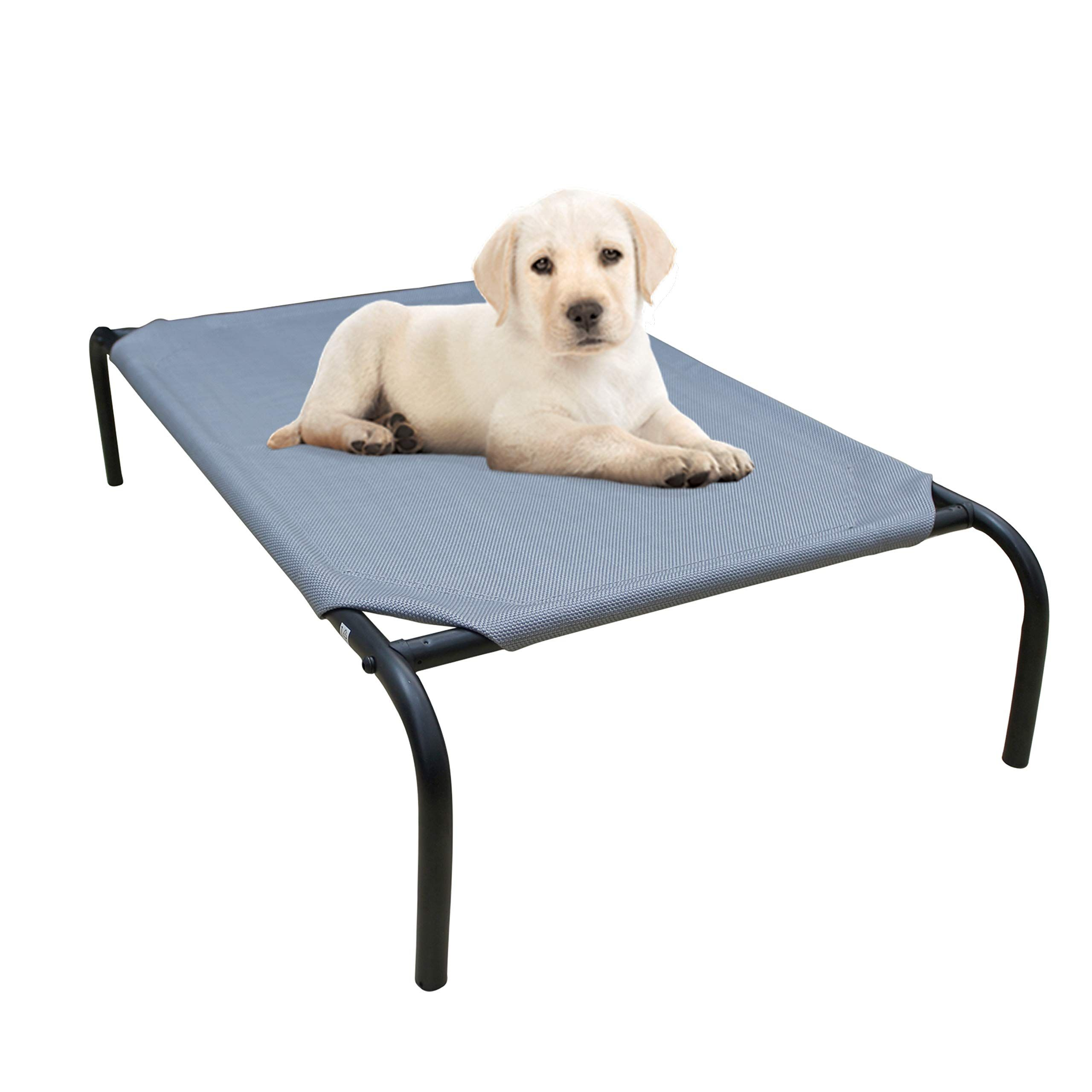 Phyex Steel Framed Portable Elevated Pet Bed Elevated Cooling Pet