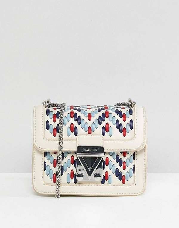 Valentino By Mario Valentino Woven Detail Mini Cross Body Bag With Images Bags Valentino Crossbody Valentino Rockstud Shoes