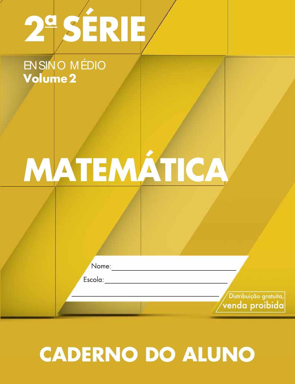 Cadernodoaluno 2014 2017 Vol2 Baixa Mat Matematica Em 2s Livros
