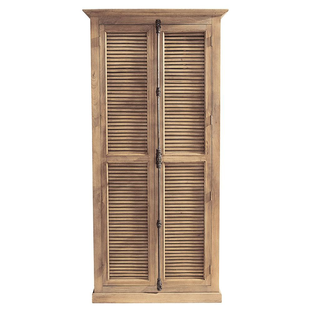 Armoire Persiennes Armoireunder 100 Wood Wardrobe Tall Cabinet Storage Bedroom Armoire