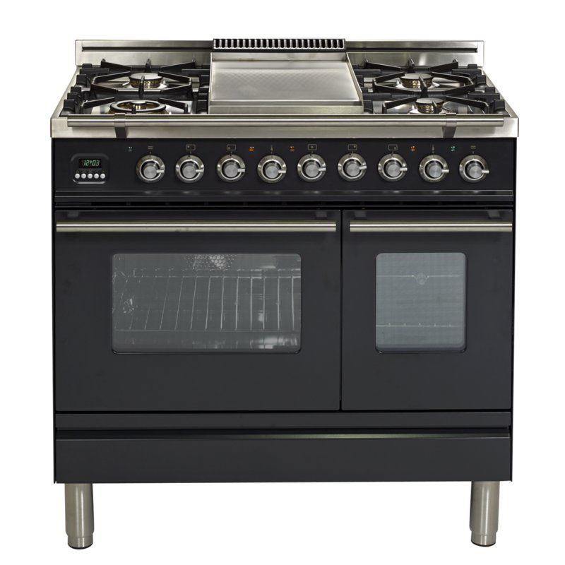 Ilve 36 Free Standing Dual Fuel Range Wayfair Double Oven Range Double Oven Range Cooker