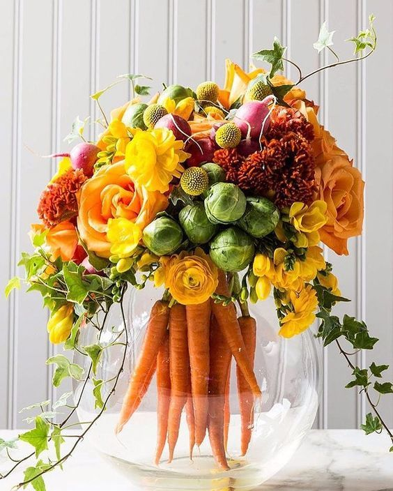 Flower Arrangement Ideas For Dinner Party Part - 44: Carrot Bouquet, Would Be Fun For Summer Dinner Party When All The Veggies  Come From The Garden. | Flowers | Pinterest | Carrots, Easter And Flowers