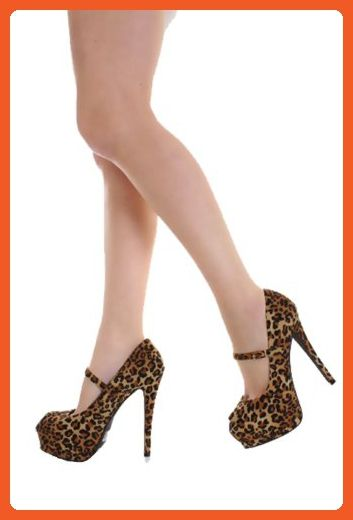 8cf2006be2f0 Qupid Mary Jane Peep Toe Leopard Pump Qutatum-85 (6.5) - Pumps for women  ( Amazon Partner-Link)