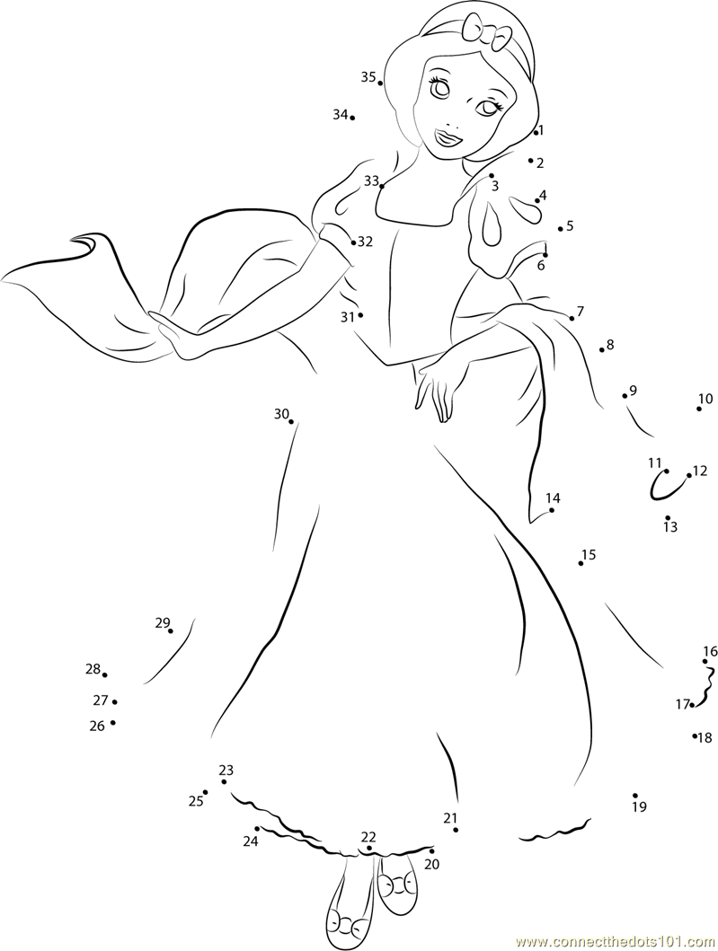 Download or print Cute Snow White