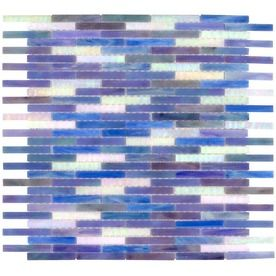 Elida Ceramica�13-in x 14-in Ocean Brick Glass Mosaic Wall Tile (Actuals 13-in x 14-in) love this one!