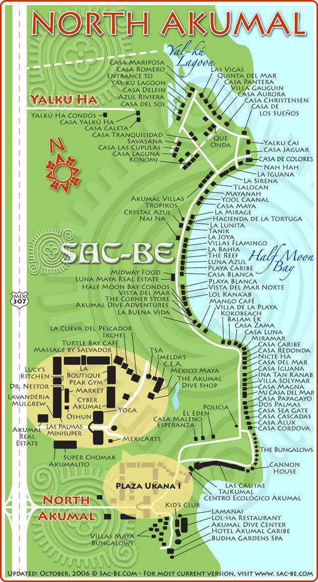Akumal - turtle bay cafe MAP | Akumal mexico, Mexico travel ...