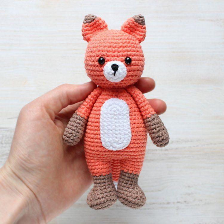 Crochet Cuddle Me Fox - Patrón de Amigurumi gratis   patrones ...