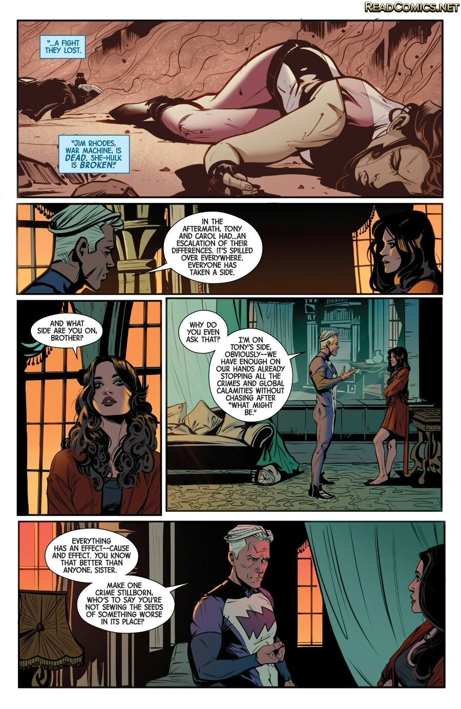 Wanda And Pietro Maximoff Talking About Civil War Scarlet Witch Marvel Scarlet Witch Comic Black Widow Avengers