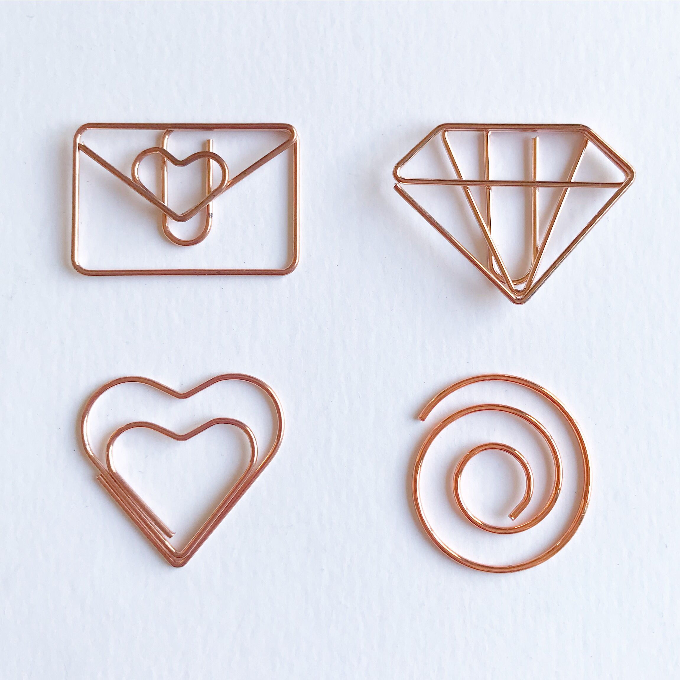 Glamorous Rose Gold Paperclips For Work And Home. Decorate