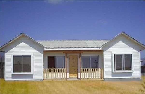 Fachada casa madera prefabricadaplano gratis ver planos planos de casa campo o playa - Planos de casas de madera gratis ...