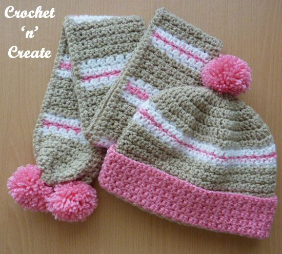 Crochet Childs Hat-Scarf Free Crochet Pattern | Gorros, Gorros con ...